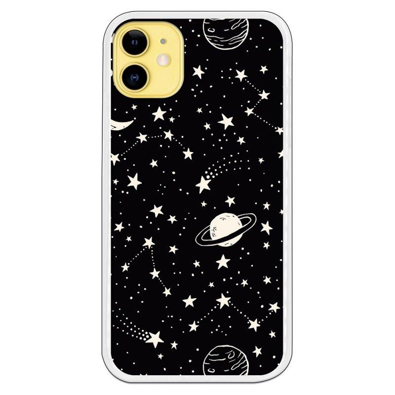 Funda De Planetas Fondo Negro Para IPhone 11