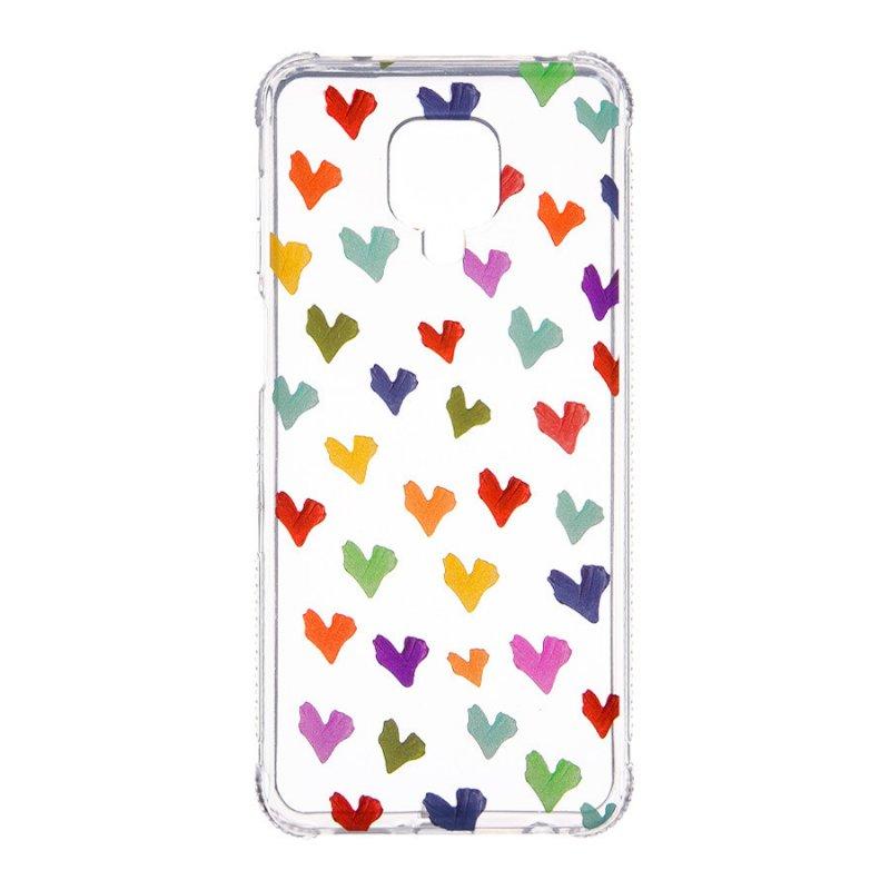 Funda De Dibujos Con Corazones Paint Para Xiaomi Redmi Note 9S