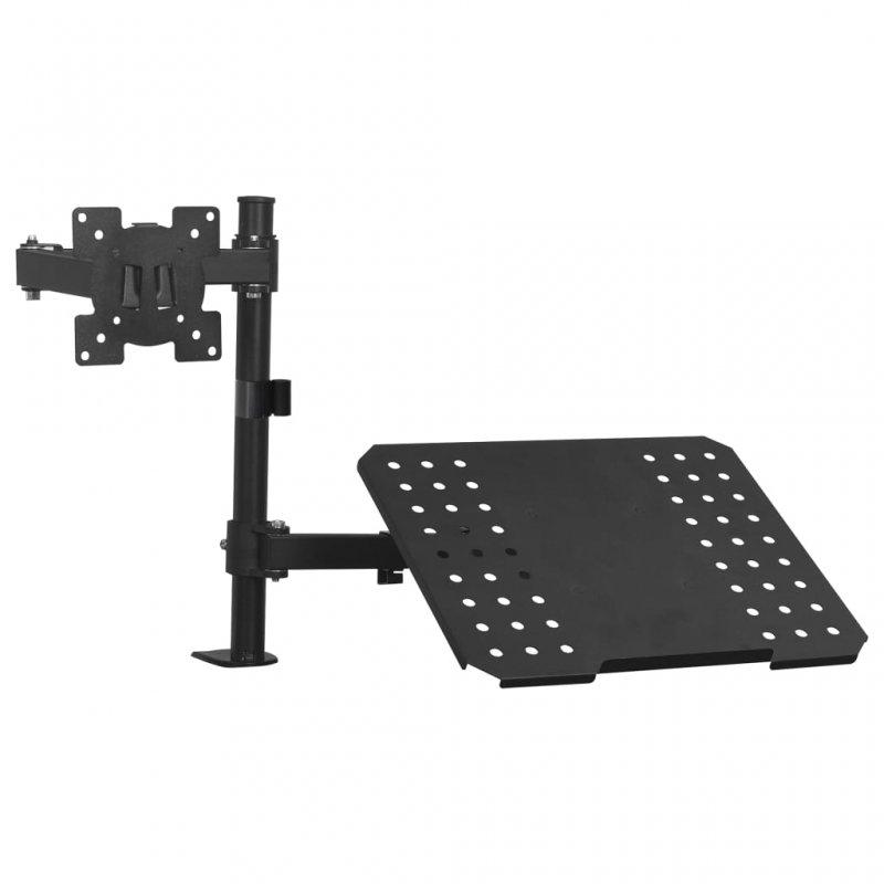 """VidaXL Soporte Dual Monitor/Portátil De Sobremesa 13""""-23"""" VESA 100x100 Max 8Kg"""