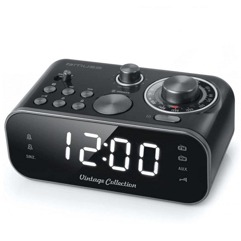 Muse M-18CRB Radio Despertador Negro