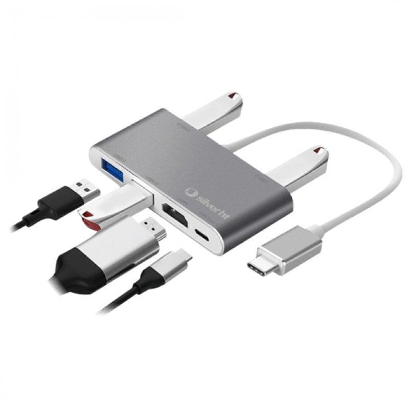 SilverHT Hub USB-C 6 En 1