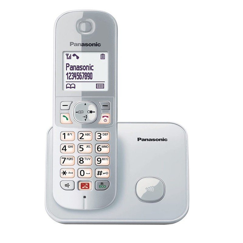 Panasonic KX-TG6851SP Teléfono Inalámbrico Plata