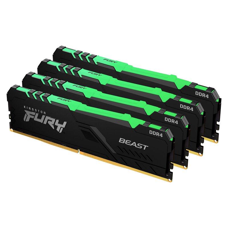 Kingston FURY Beast RGB DDR4 3200 MHz 64 GB 4x16GB CL16