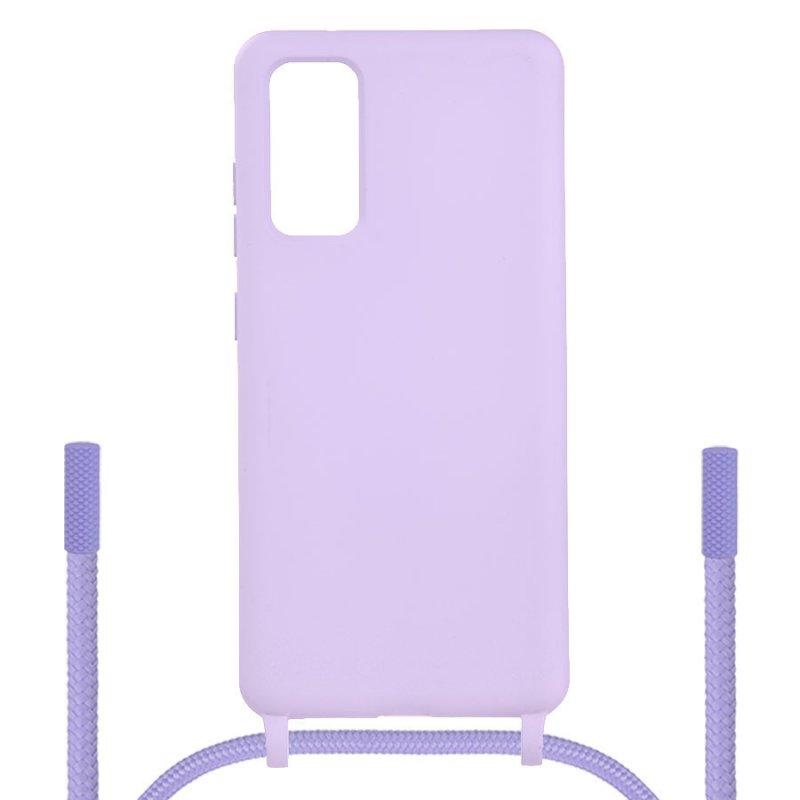 Funda Ultra Suave Colgante Violeta para Samsung Galaxy S20 FE