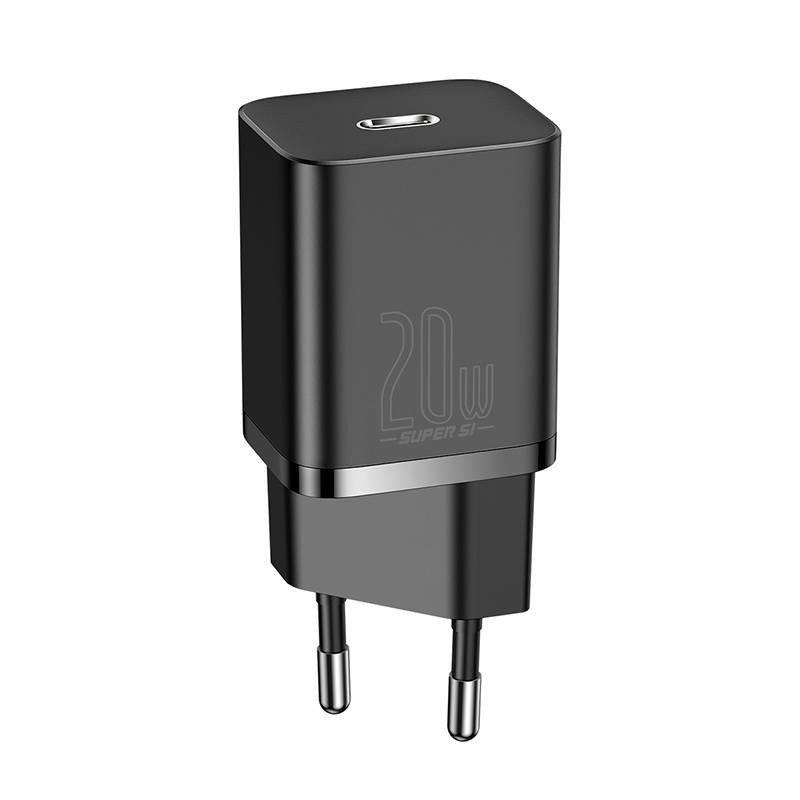 Baseus Cargador Carga Rápida USB-C 20W Negro