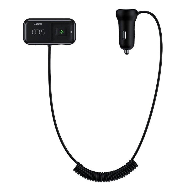 Baseus Reproductor Inalámbrico MP3 Para Coche + 2x USB Cargador Negro
