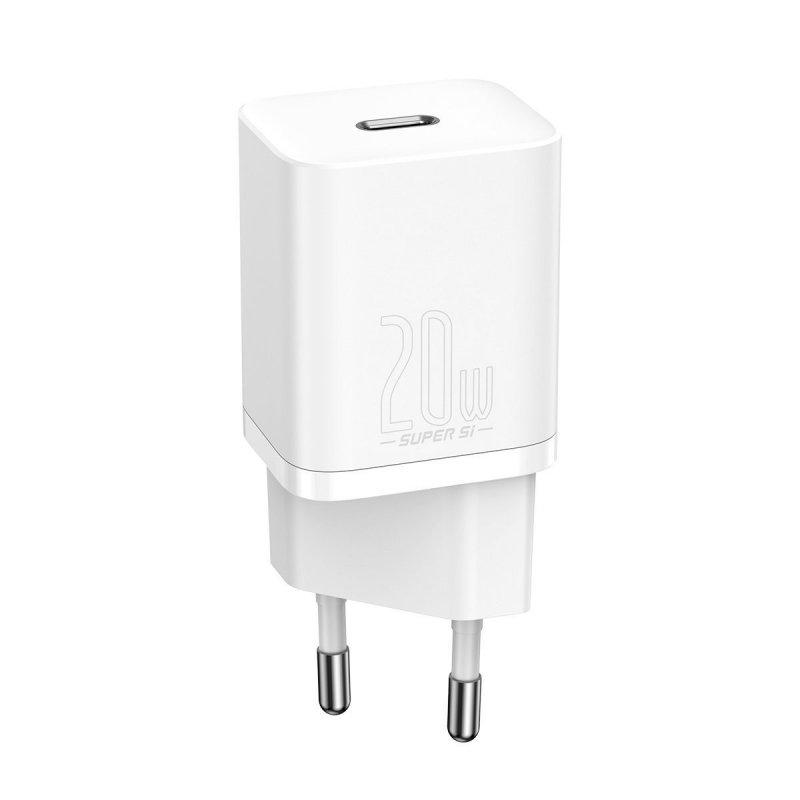 Baseus Cargador Carga Rápida USB-C 20W Blanco
