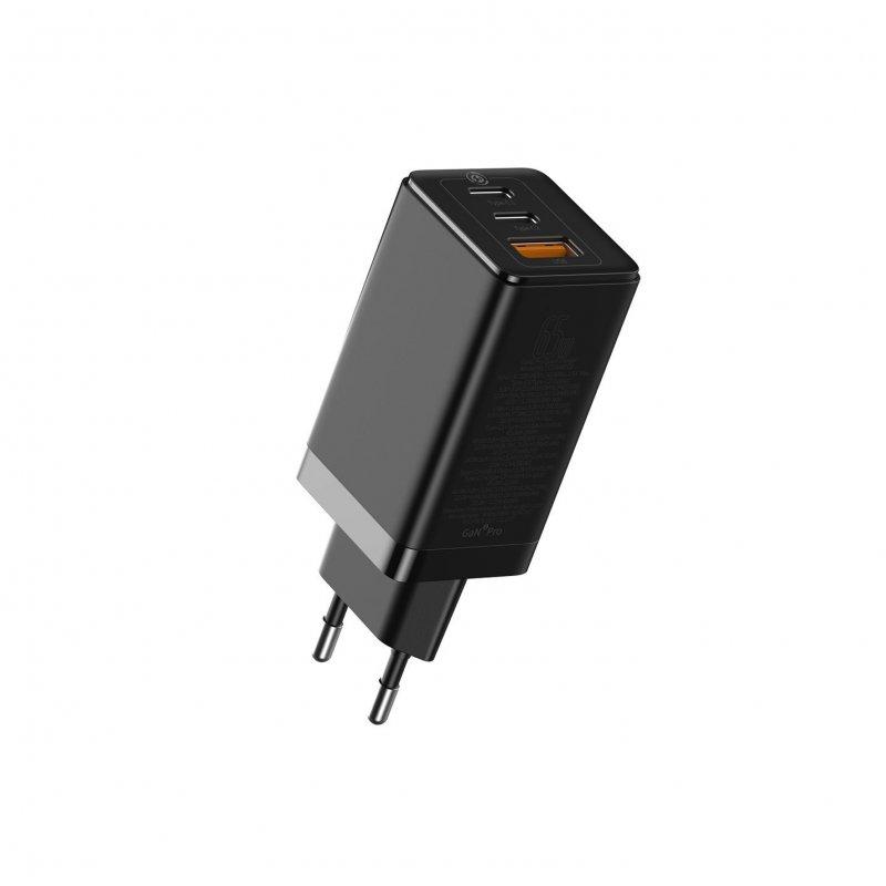 Baseus Cargador De Carga Rápida 2x USB-C + USB 100W 1m Negro