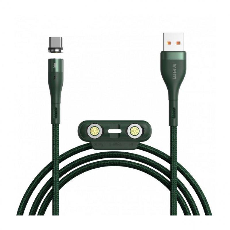 Baseus Cable Carga 3 En 1 USB-A A Lightning/ Micro USB/ USB-C 1.2m Verde