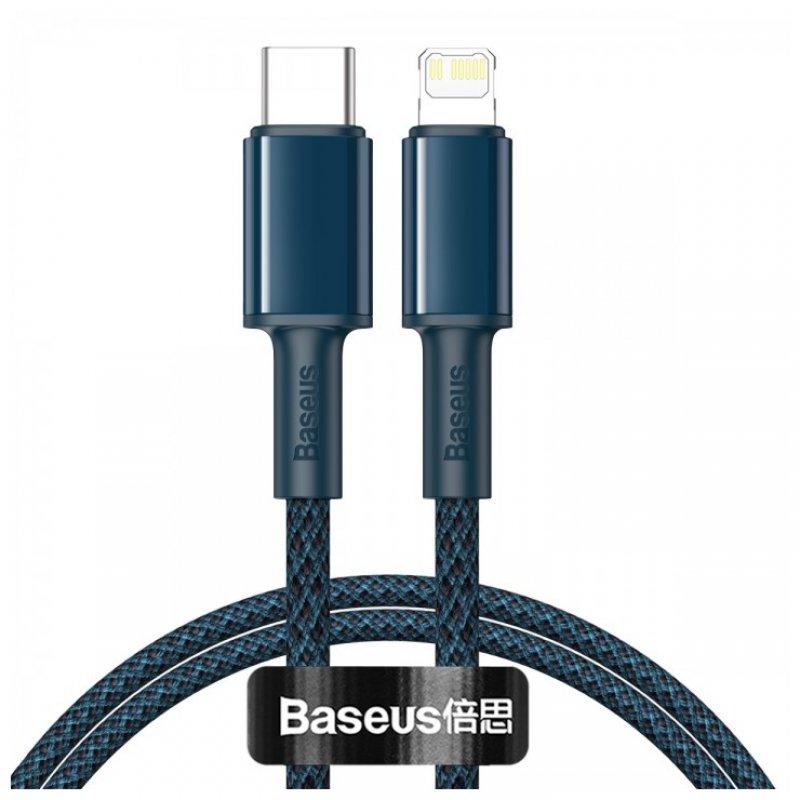 Baseus Cable Trenzado USB-C A Lightning 20W 2m Azul