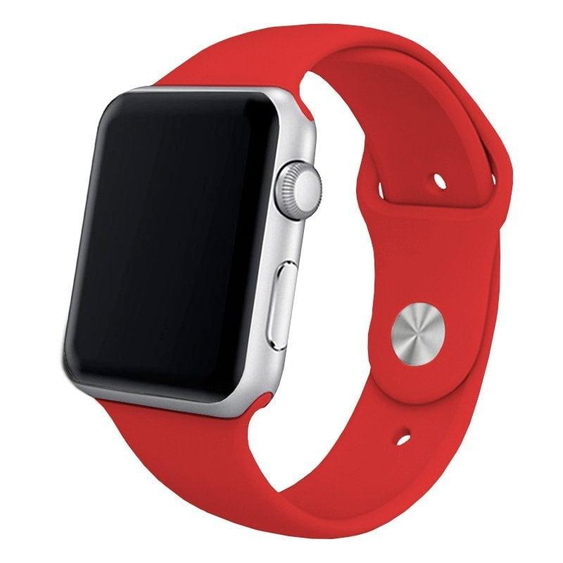 Cool Correa Goma Roja Para Apple Watch Watch 42/44 Mm Series 1/2/3/4/5/6/SE