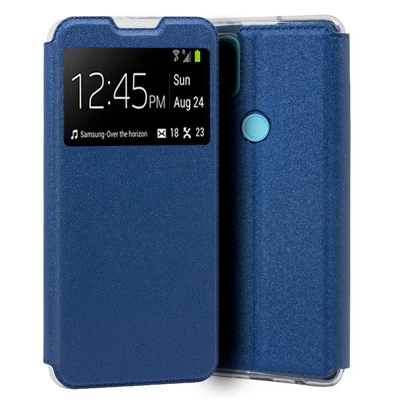 Cool Funda Flip Cover Liso Azul Para Realme C21
