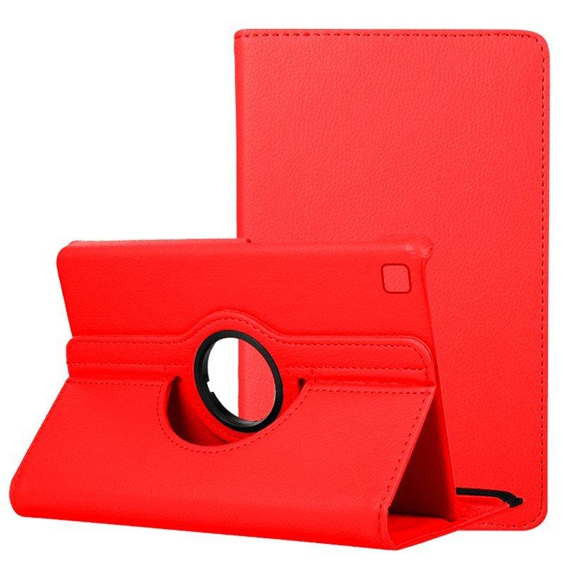 Cool Funda Giratoria Polipiel Liso Rojo Para Samsung Galaxy Tab A7 Lite