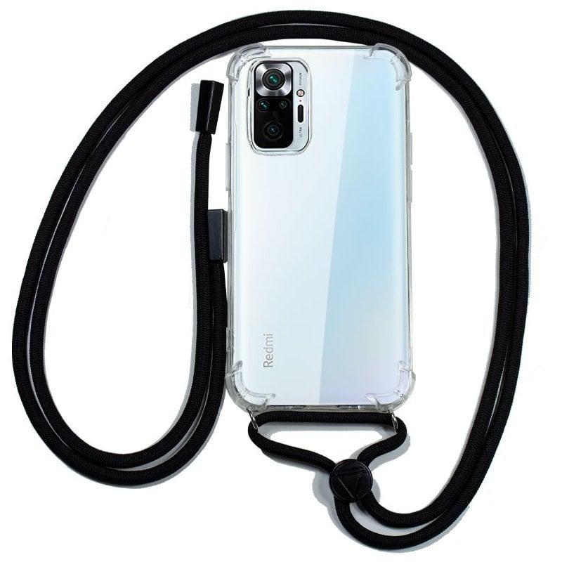 Cool Funda Transparente Con Cordón Negro Para Xiaomi Redmi Note 10 5G/Pocophone M3 Pro 5G