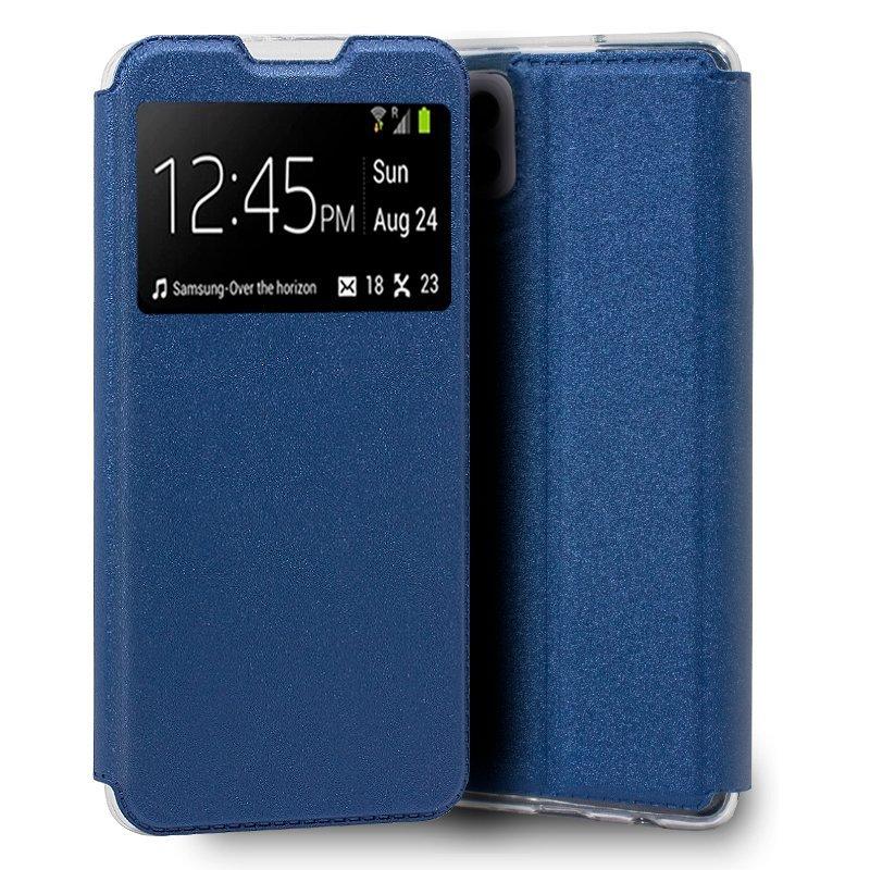 Cool Funda Flip Cover Liso Azul Para Samsung Galaxy A22 5G