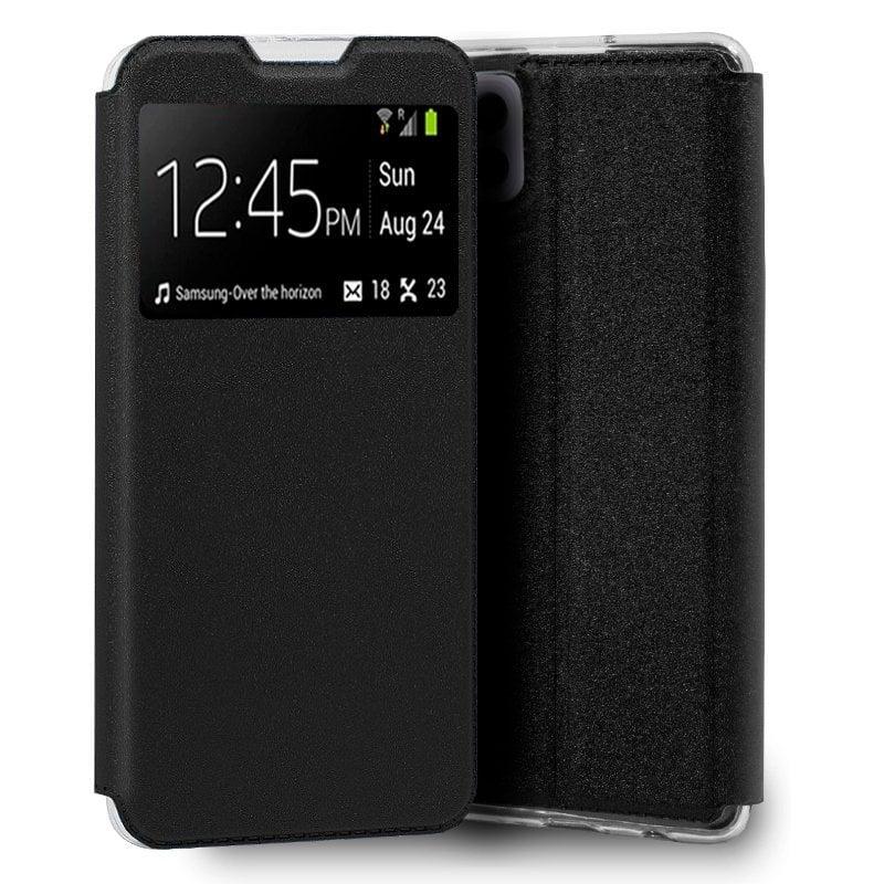 Cool Funda Flip Cover Liso Negro Para Samsung Galaxy A22 5G