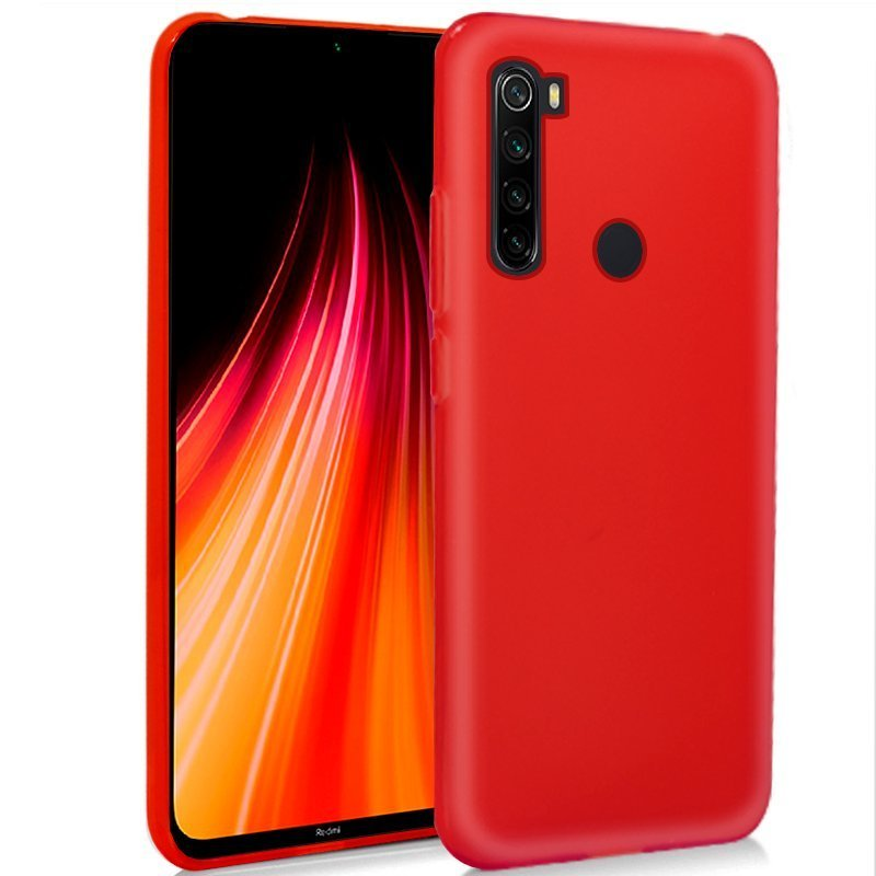 Cool Funda Silicona Rojo Para Xiaomi Redmi Note 8/Note 8 (2021)