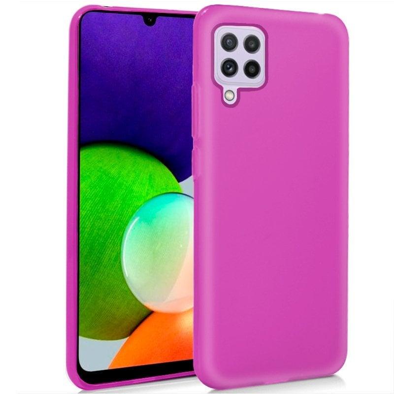 Cool Funda Silicona Rosa Para Samsung Galaxy A22 4G