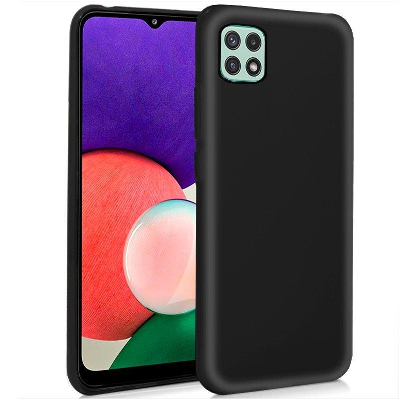 Cool Funda Silicona Negra Para Samsung Galaxy A22 5G