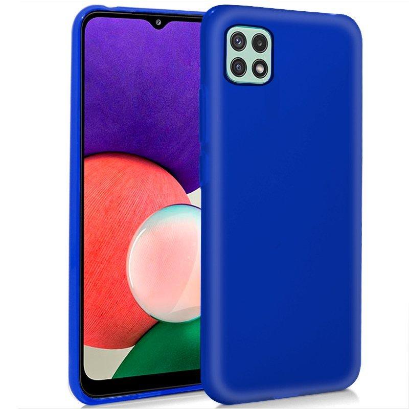 Cool Funda Silicona Azul Para Samsung Galaxy A22 5G
