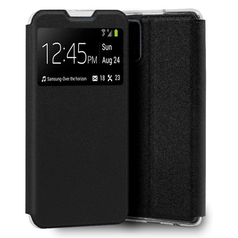 Cool Funda Flip Cover Liso Negro Para Realme GT 5G