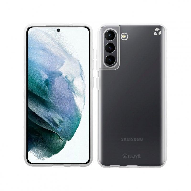 Muvit Funda Recycletek Transparente Para Samsung Galaxy S21 FE 5G