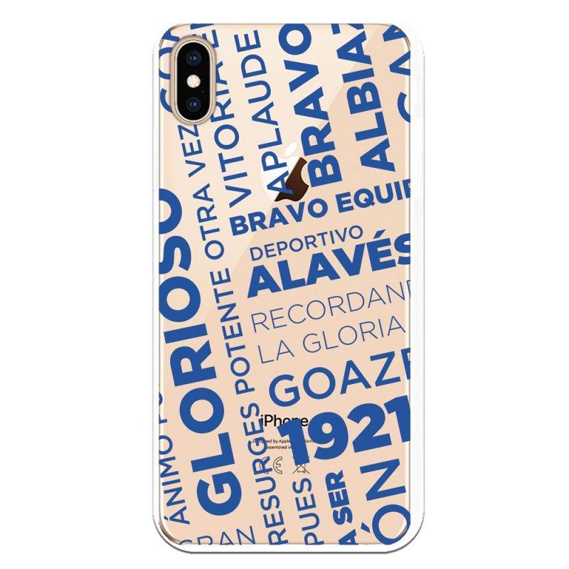 Funda Oficial Alavés Texto Azul Glorioso Para IPhone XS Max