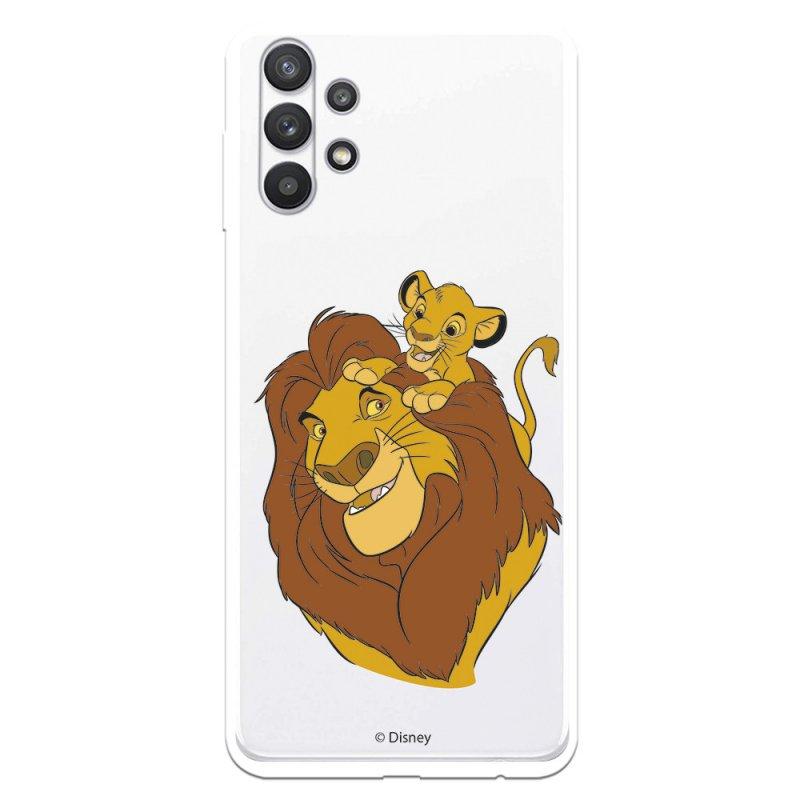 Funda Oficial de Disney Mufasa y Simba Silueta El Rey León para Samsung Galaxy A32 5G