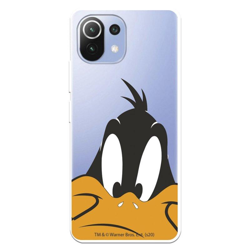 Funda Oficial de Warner Bros Pato Lucas Silueta Transparente Looney Tunes para Xiaomi Mi 11 Lite