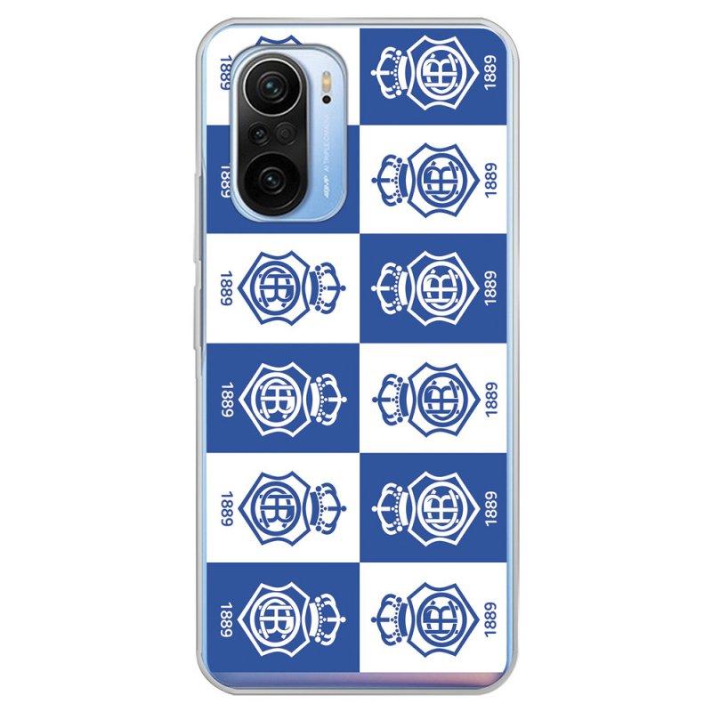 Funda del Recre Patrón Escudos Cuadrados Licencia Oficial Real Club Recreativo de Huelva para Xiaomi Mi 11i