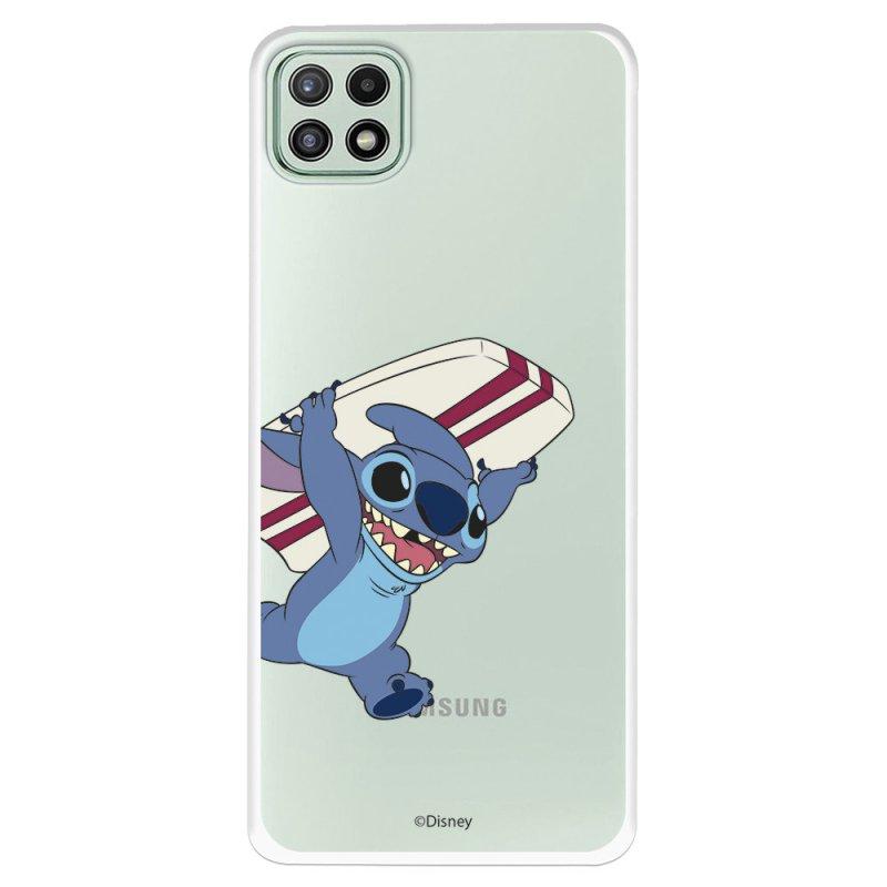 Funda Oficial De Disney Stitch Transparente  Lilo & Stitch Para Samsung Galaxy A22 5G