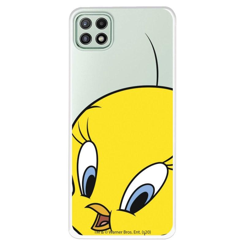 Funda Oficial de Warner Bros Piolín Silueta Transparente Looney Tunes para Samsung Galaxy A22 5G