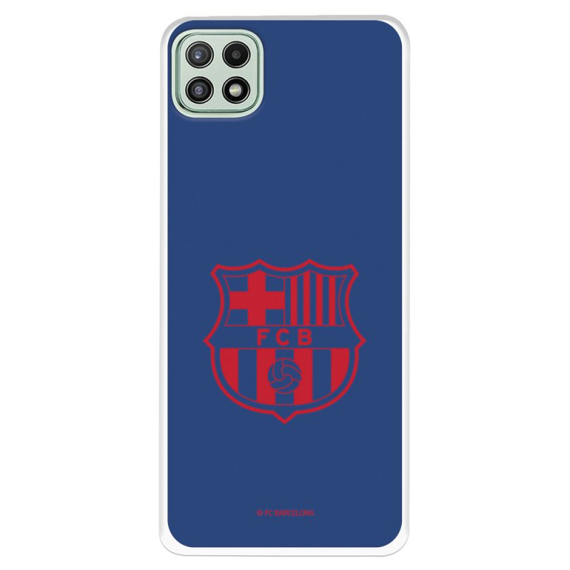 Funda Del Barcelona Escudo Rojo Fondo Azul Licencia Oficial FC Barcelona Para Samsung Galaxy A22 5G