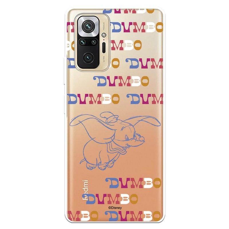 Funda Oficial De Disney Dumbo Patrón Letra Para Xiaomi Redmi Note 10 Pro