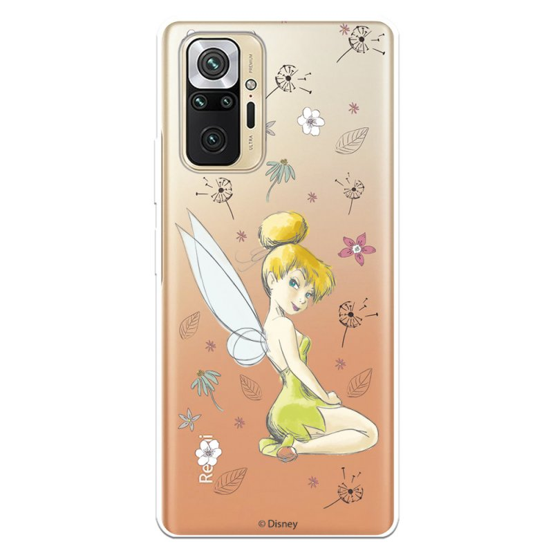 Funda Oficial De Disney Peter Pan Campanilla Silueta Transparente Para Xiaomi Redmi Note 10 Pro