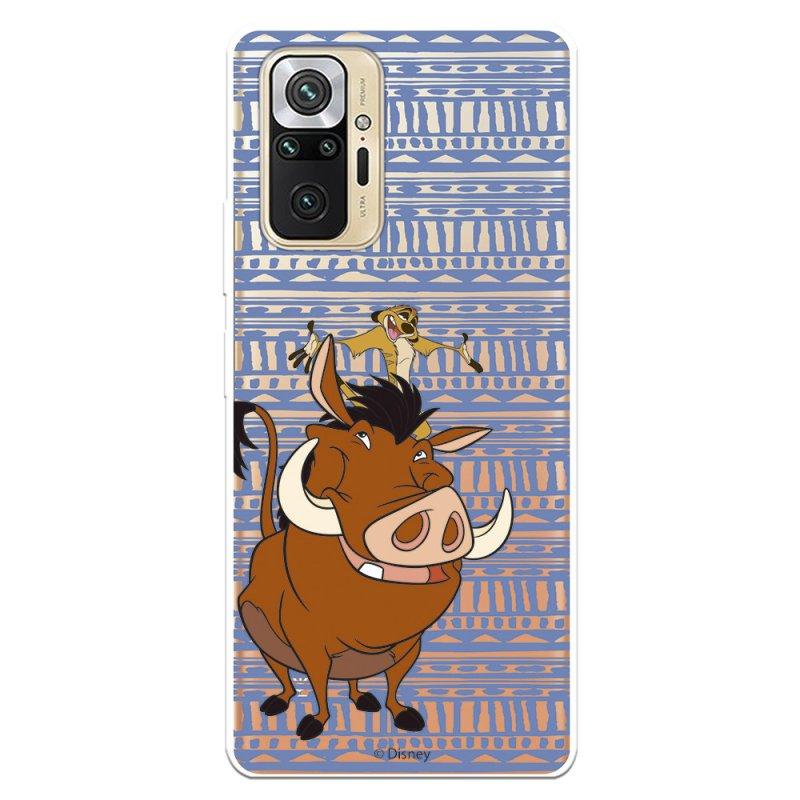 Funda Oficial de Disney El Rey León Timón y Pumba Silueta para Xiaomi Redmi Note 10 Pro