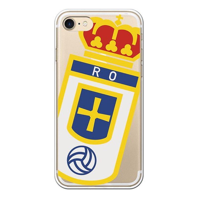 Funda Oficial Real Oviedo Escudo Sobre Transparente Para IPhone 7