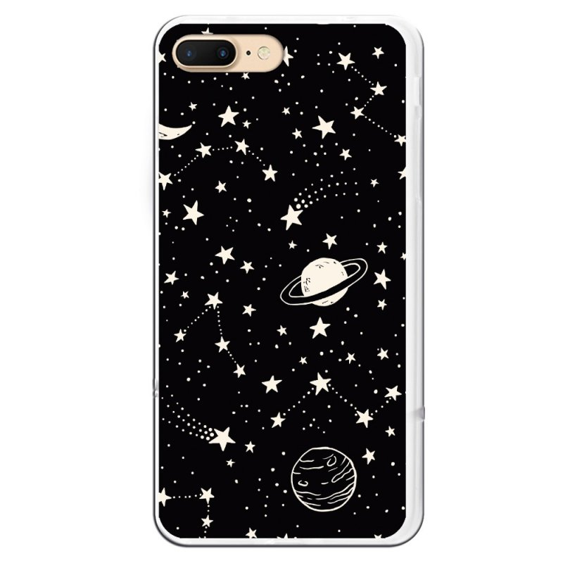 Funda Planetas Fondo Negro Para IPhone 7 Plus