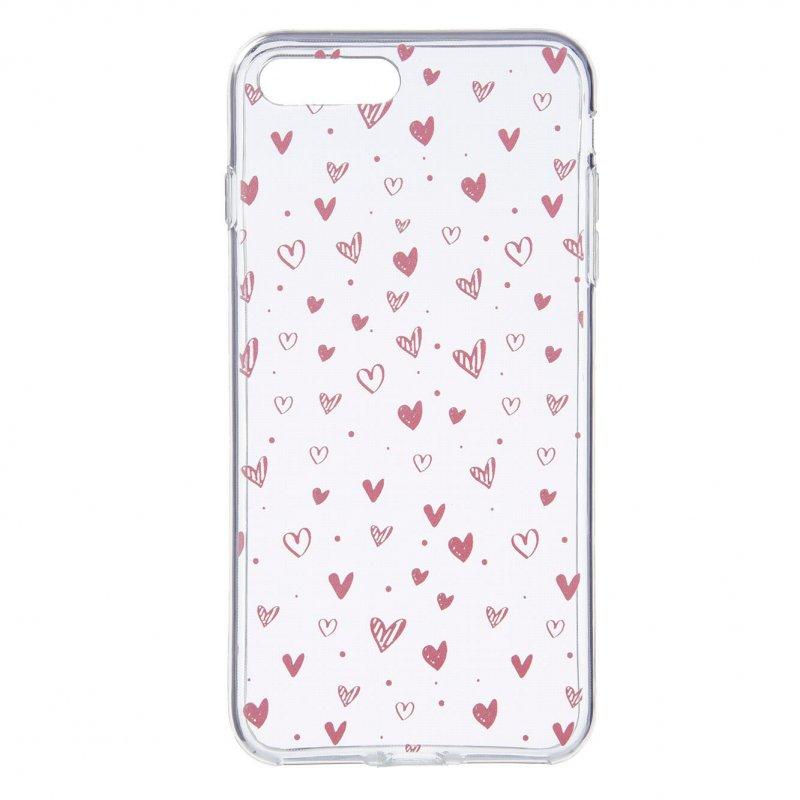 Funda Dibujo Corazones Para IPhone 7 Plus