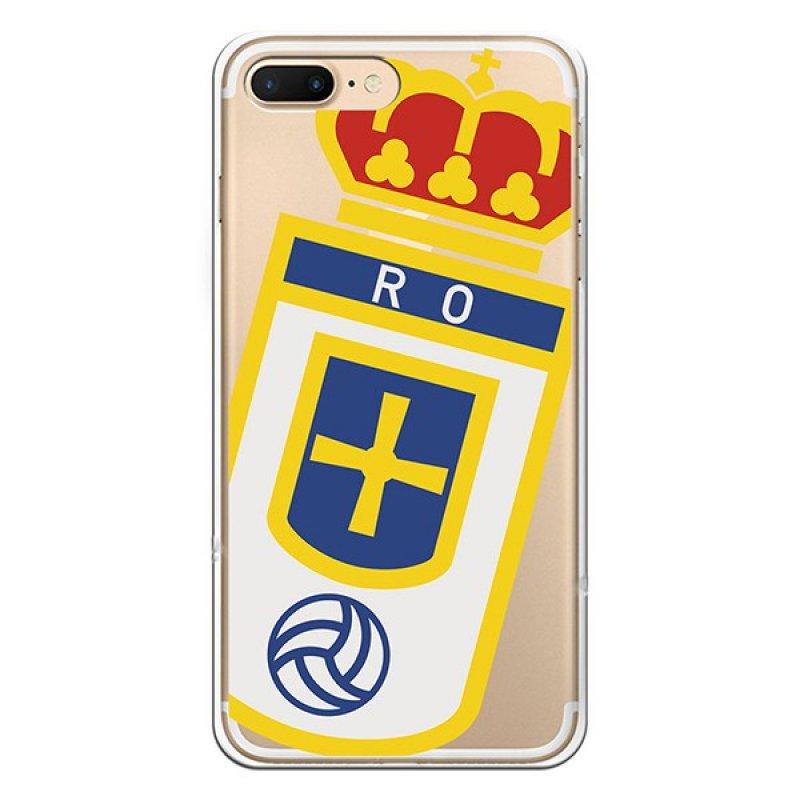 Funda Oficial Real Oviedo Escudo Sobre Transparente IPhone 7 Plus