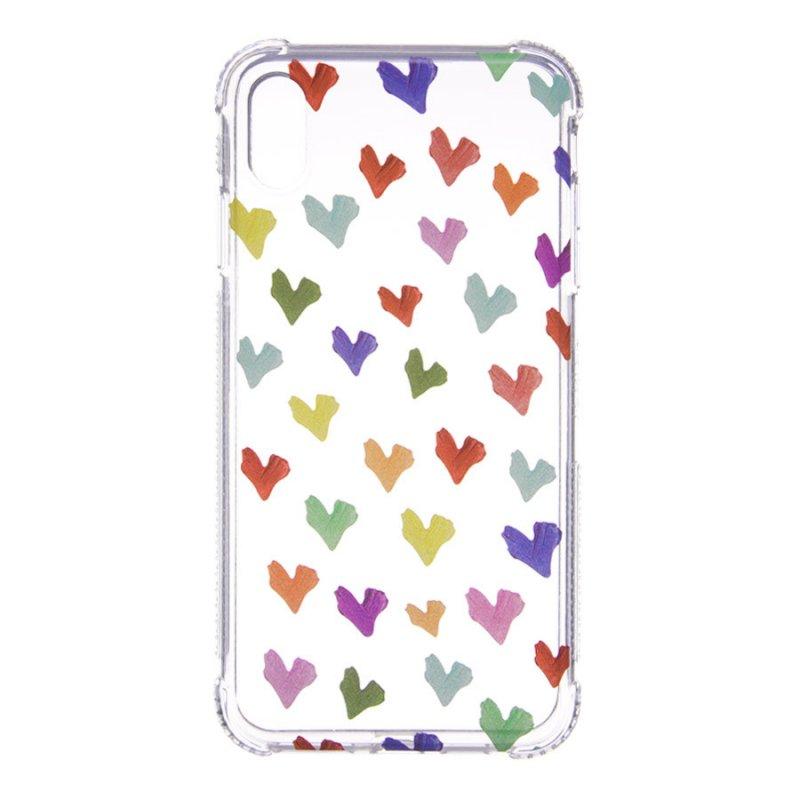 Funda Dibujo Corazones Paint Para IPhone X