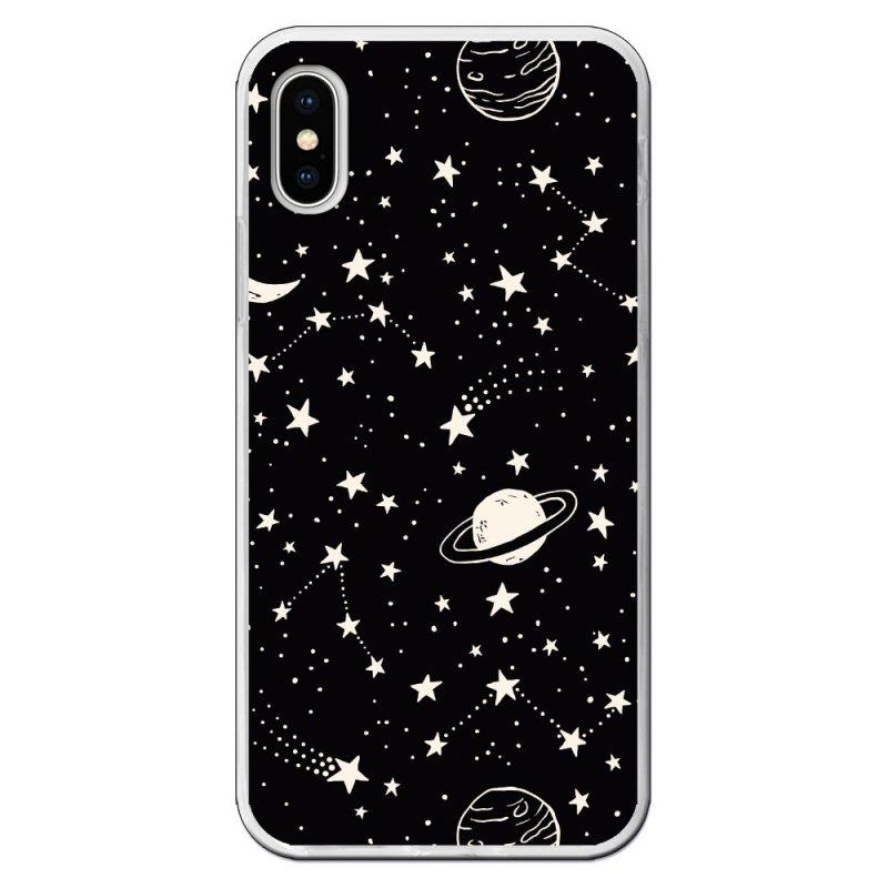 Funda Planetas Fondo Negro Para IPhone X