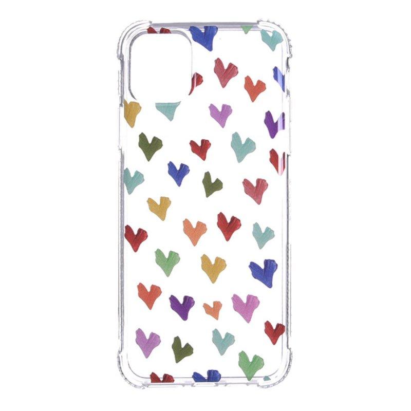 Funda Dibujo Corazones Paint Para IPhone 11 Pro Max