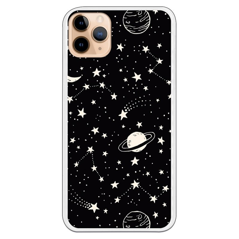 Funda Planetas Fondo Negro Para IPhone 11 Pro Max