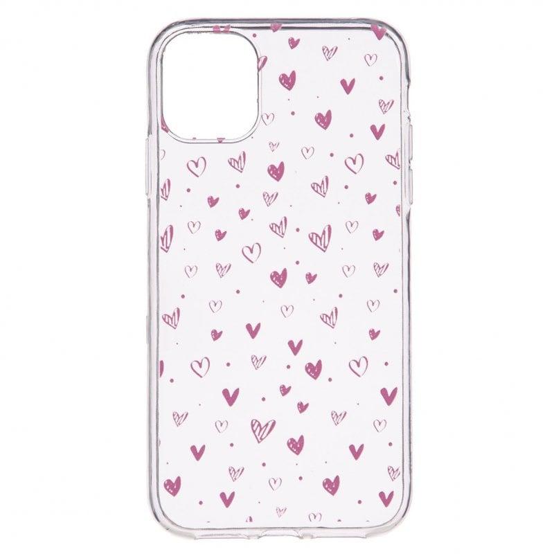 Funda Dibujo Corazones Rosas Para IPhone 11 Pro Max