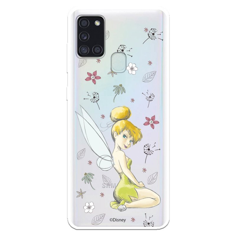 Funda Oficial De Disney Campanilla Silueta Transparente Peter Pan Para Samsung Galaxy A21S