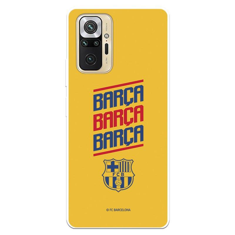 Funda Del Barcelona Fondo Amarillo Licencia Oficial FC Barcelona Para Xiaomi Redmi Note 10 Pro