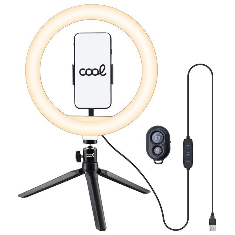 Cool Aro De Luz LED Sobremesa + Mando Bluetooth