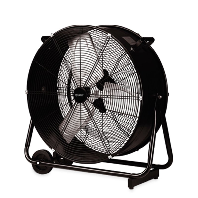 Garsaco Ventilador Industrial Con Ruedas Negro