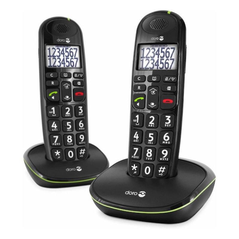 Doro PhoneEasy 110 Teléfono Inalámbrico Duo Negro